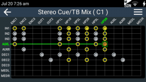 Create custom cue and talkback mixes