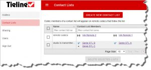 TieLink can be used to create Contact Lists facilitating simple connections
