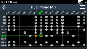 ViA Dual Mono SIP call integration mix at studio