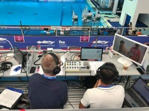 Tieline i-Mix G3 Codec at the Springboard Diving Venue for FINA 2019 Commentary Solutions
