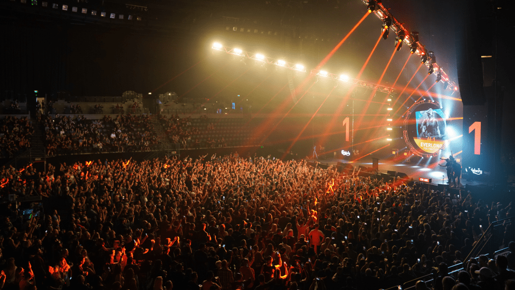 The Rock 2000 Live Concert at Spark Arena in Auckland, New Zealand