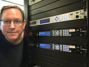 Greg Landgraf with Tieline codecs