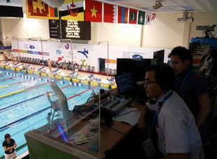 --- AIMAG-i-Mix codec at swimming venue